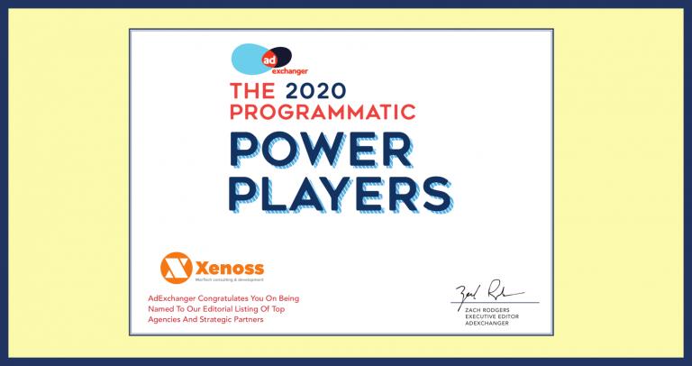 Xenoss - 2020 AdExchanger Programmatic Power Players