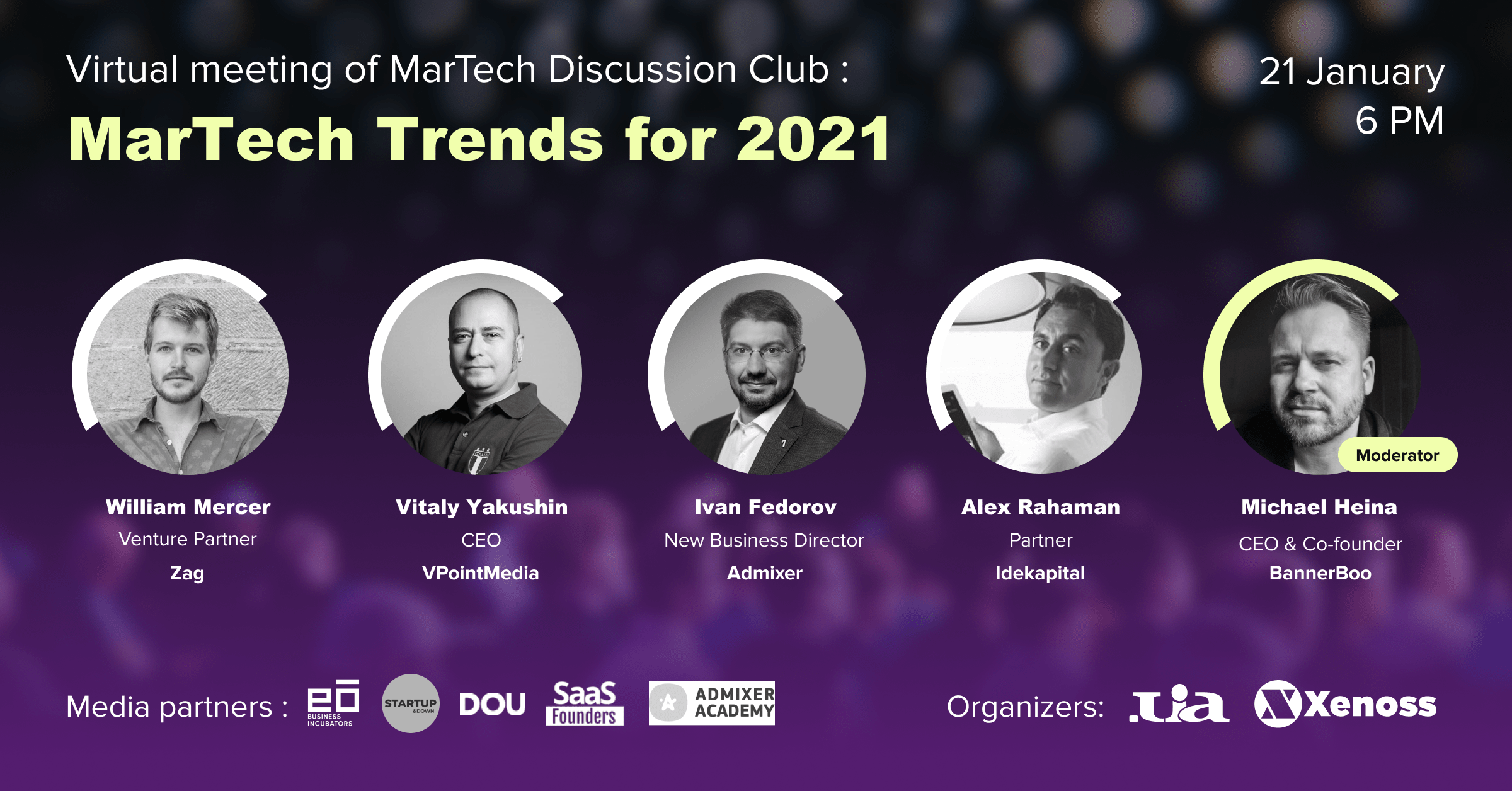 Hosted by Xenoss event - Martech trends for 2021
